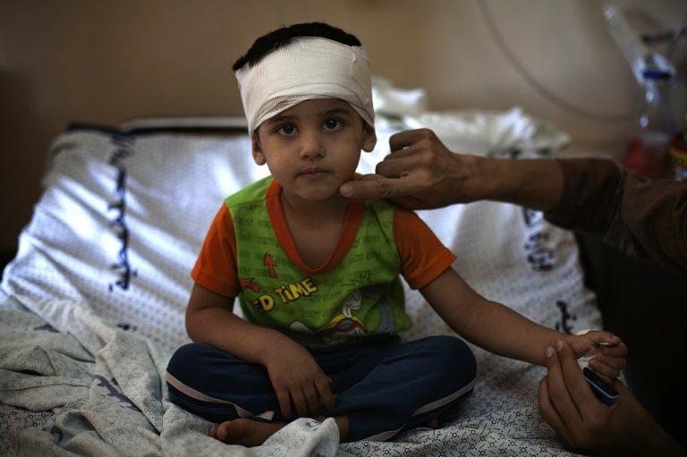 Palestisk dreng er kommet til skade